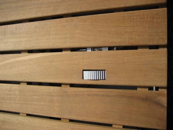 Design Gartendusche Wpc Braun Mc Shower